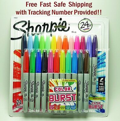 Sharpie Ultra Fine Point Permanent Markers 24 Assorted Colors FREE Shipping!!
