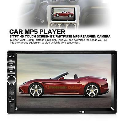 """7"""" Double 2Din Car Bluetooth MP5 Player Touch Screen Dash Radio Stereo SD USB UK"""