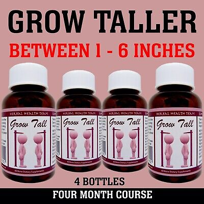 GAIN HEIGHT...BE TALLER...4 Month course...4 Bottles...Grow Tal.................