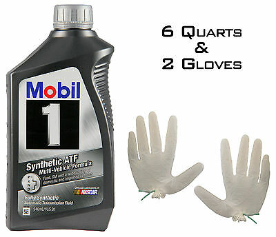 Mobil 1 ATF Synthetic 6 quarts (Automatic Transmission Fluid)