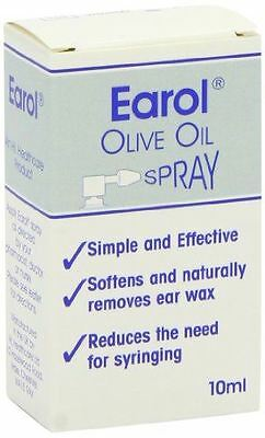 Earol Ear Wax Remover Olive Oil Spray, 10ml