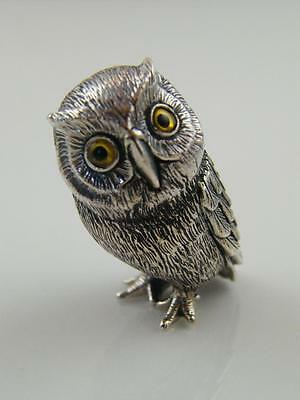 Sterling Silver Chased Owl Miniature Figurine
