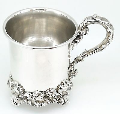 Victorian Antique Solid Silver Christening Mug / Tankard London 1844