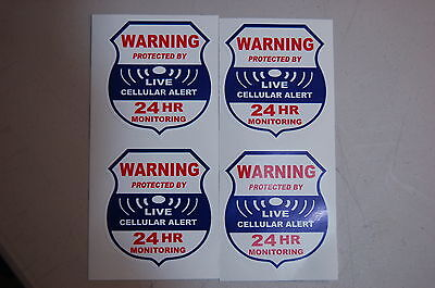 4 cellular alert live   Home  Alarm SECURITY SURVEILLANCE DECAL WINDOW STICKER