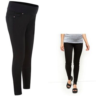 Maternity New Look Black Under The Bump Jeggings Sizes 8 10 12 14 16 18 Leg 30