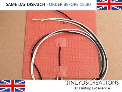 24V 200w SILICONE RUBBER HEAT TEMP BED 200X200 3D PRINTER PART