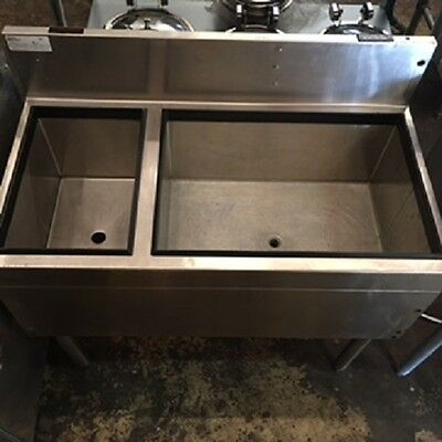 Glastender Underbar Combo Ice Bin Unit