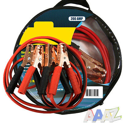200AMP Heavy Duty Car Jump Leads Start Up Booster Cables 2.5 Metres Long