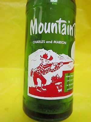 Mountain Mtn Dew Charles And Marion 1964 Hillbilly Glass Bottle By Pepsi Cola