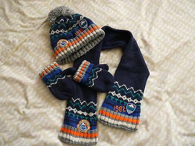 next boys  hat scarf and gloves 3 piece set 1-2 years