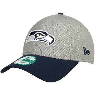 Seattle Seahawks New Era 9Forty Adjustable Cap, Heather Grey.