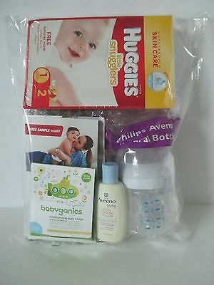 Baby Registry Welcome Box Includes Philips Avent Bottle 4oz. Huggies Wipes 32ct