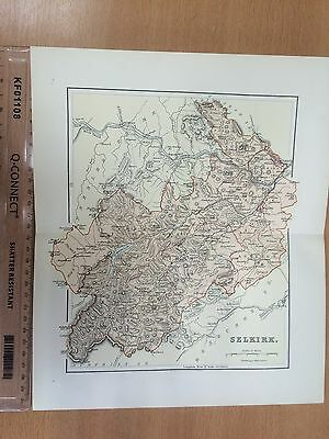 1894 Map of Selkirkshire or County of Selkirk, Scotland