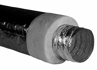 """200mm/8"""" R1.0 Insulated x 6m Flexible Ducted Heating/Air Con duct – BRAND NEW"""
