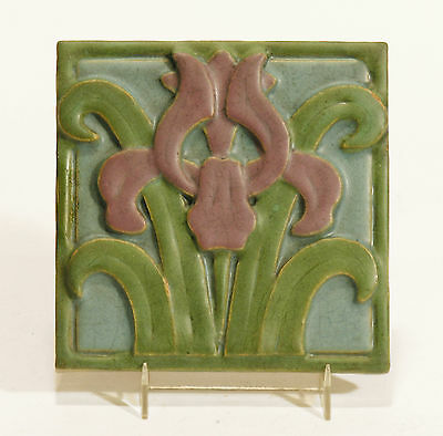 Rookwood Pottery Architectural Faience Tile Arts & Crafts Art Deco stylized Iris