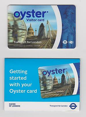 Very Old Oyster Visitors Card + Original Folder - Valid For Travel In London