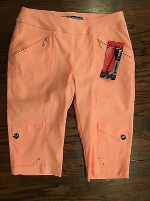 Jamie Sadock Womans skinnylicious Golf Shorts Peach  Sz 6 NWT