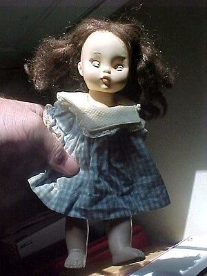 """VINTAGE 1966 Effanbee  Rubber Early Doll Rare! Sleepy ABOUT 10"""""""