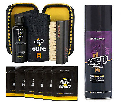 Crep Protect Cure Kit, Rain Stain Shoe Spray + 6 Wipes (Pk) with Free Gift Box