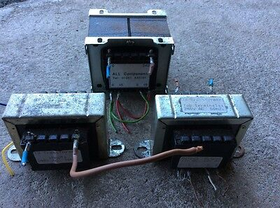 Model railway transformers  x3 used. See photographs for detail.