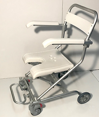 Lightweight Shower Wheelchair Transit Transport Chair Rust Free Age Care Rehab