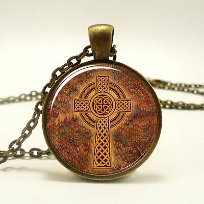 Celtic Cross Necklace, Celtic Knot Jewelry (0927B1IN)