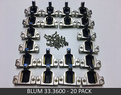 20 Pack Blum COMPACT 33 110° Screw-on Hinge - 10 pairs - 33.3600 - FREE SHIPPING