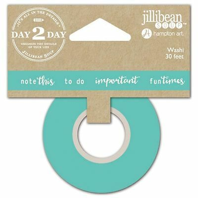 Washi Tape by Jellybean Soup Day 2 Day Planner Green 15mm x 30Ft
