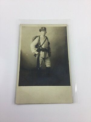 Ww1 Wwi German Military Weihnachter 1916 Photo Postcard Of Young Soldier