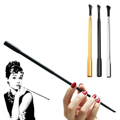 Newly Hot 1Pc Aluminum Long Slim Retractable Holder Fume Pipe Costume Prop Gift