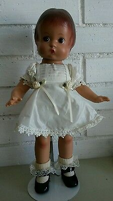 "Effanbee patsy 13"" doll 1980's reproduction - lovely mint condition w/ stand"