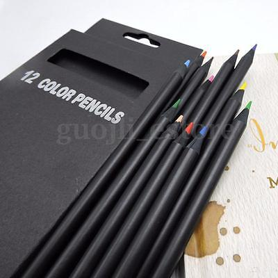 12 Colors Wooden Drawing Charcoal Pencils Soft Painting Sketch Fine Art Supplies