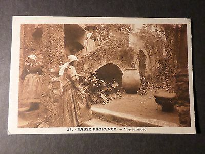 Cpa France Folklore Costume,basse Provence Paysannes, Vf Postcard