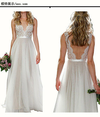 Lace Wedding Dress 2017 Ball Gown Bridal dresses Lace Appliques Chiffon Beach