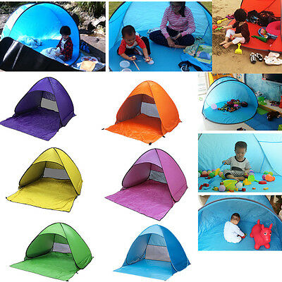 2-3 Person Instant Pop Up Tent Camping/Fishing/Hiking/Beach UV Protect Shelter