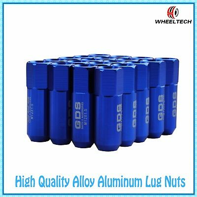 20x Blue Aluminum tuner M12x1.5 60mm for HONDA FORD TOYOTA KIA Wheel Lug Nuts