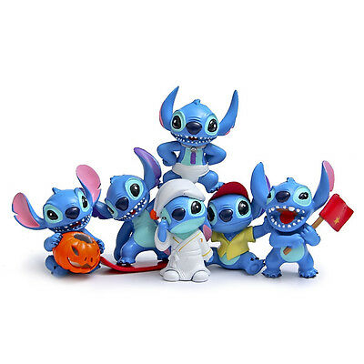 New 6pc Lilo & Stitch Action Figures Collection Set Toy Kids Cake Topper Decor