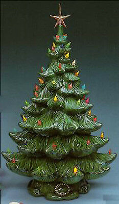 """Atlantic 17"""" Christmas Tree with lighting kit  ready to paint ceramic bisque"""