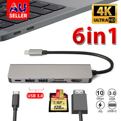 USB-C 3.1 Multiport Hub USB-A Ports/SDHC/SD Card/Micro SD Slots For MAC Macbook