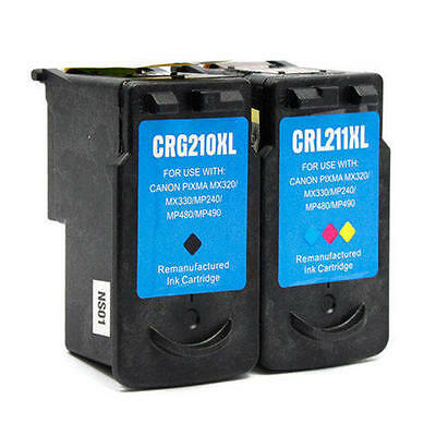 2PK ink for Canon PG-210XL CL-211XL MP495 MX320 MX330 MX340 MX350 MX360 MX410