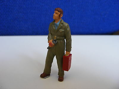 Mechanic with Spanner and Petrol Can - 1:43 O Gauge Painted Metal Model
