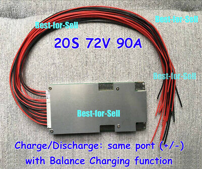 20S 72V 80A BMS PCM Protection PCB for Li-ion 18650 Battery With BALANCE charge