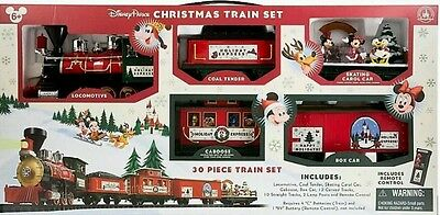 Disney Parks 2016 Christmas Train Set Mickey & Friends 30 pc New with Box