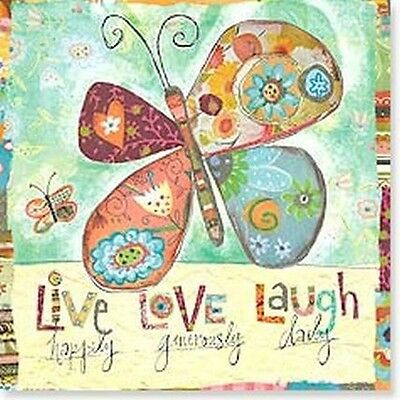 Leanin' Tree Live Love Laugh Butterfly Set of 2 Magnets