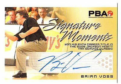 2008 Brian Voss Autographed-Signed Pba Signature Moments Trading Card