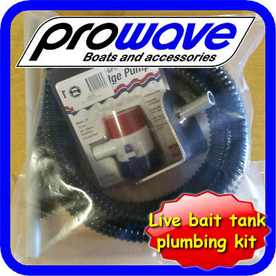 Live Bait Tank kit, Transom Mount, side draining