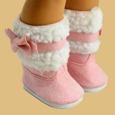 Fashion Pink Shoes Boots for  18'' American Girl Doll Clothes Dress Toys Cute