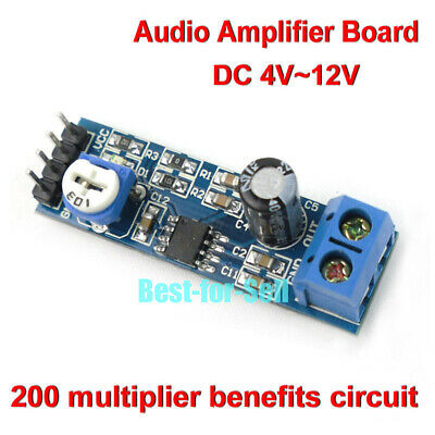 LM386 DC 5V~12V 6V Mini Audio Power Amplifier Board Micro Mono Amp Module DIY