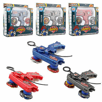 4D Beyblade Set Fusion Top Metal Fight Masters Rapidity Dual Launcher Toy Game