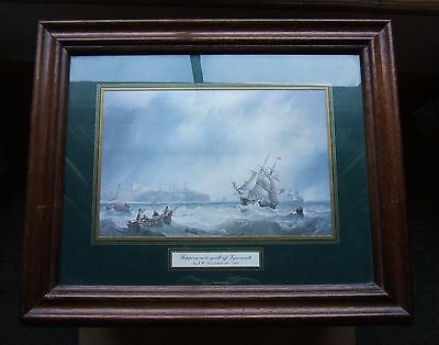 Vintage Print: Shipping In A Squall Off Tynemouth: J. W. Carmichael